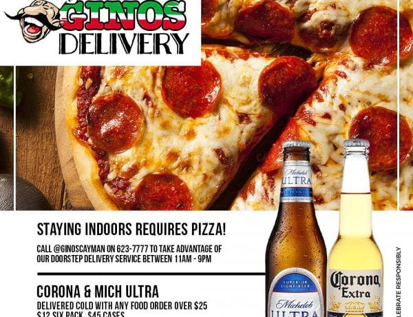 Ginos Pizzeria Special Pizza + Drinks