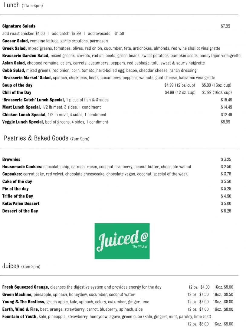 The Brasserie Delivery Takeout Menu page 3