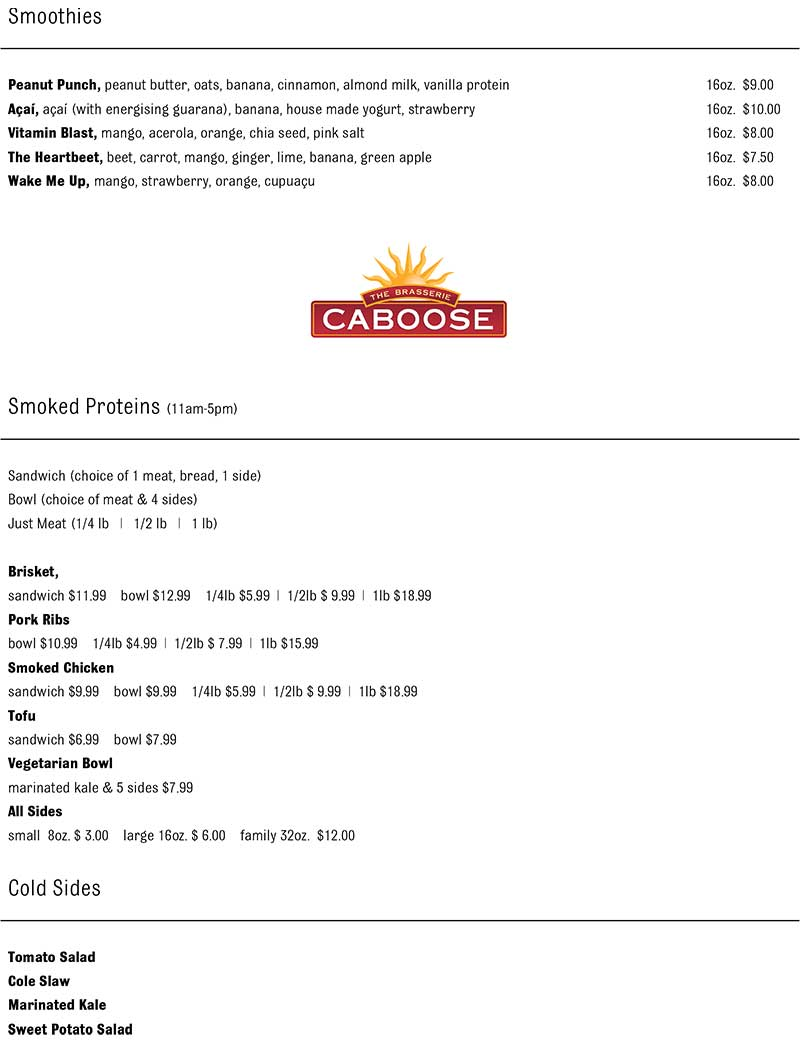 The Brasserie Delivery Takeout Menu page 4