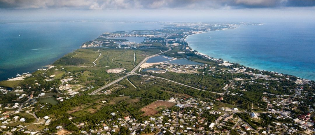 Aerial photo of Cayman Islands