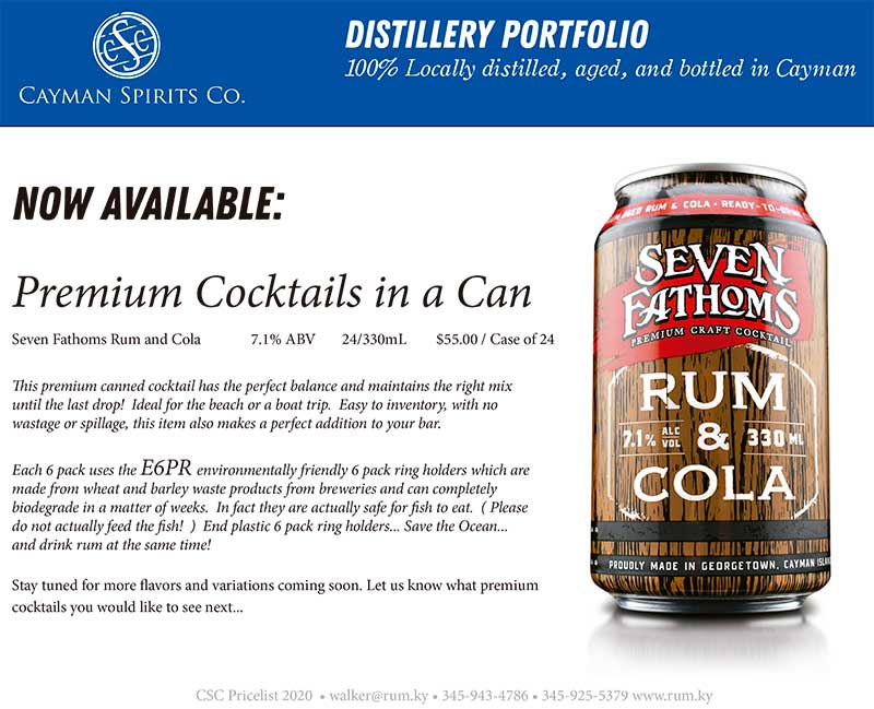 Cayman Spirits price list page 4