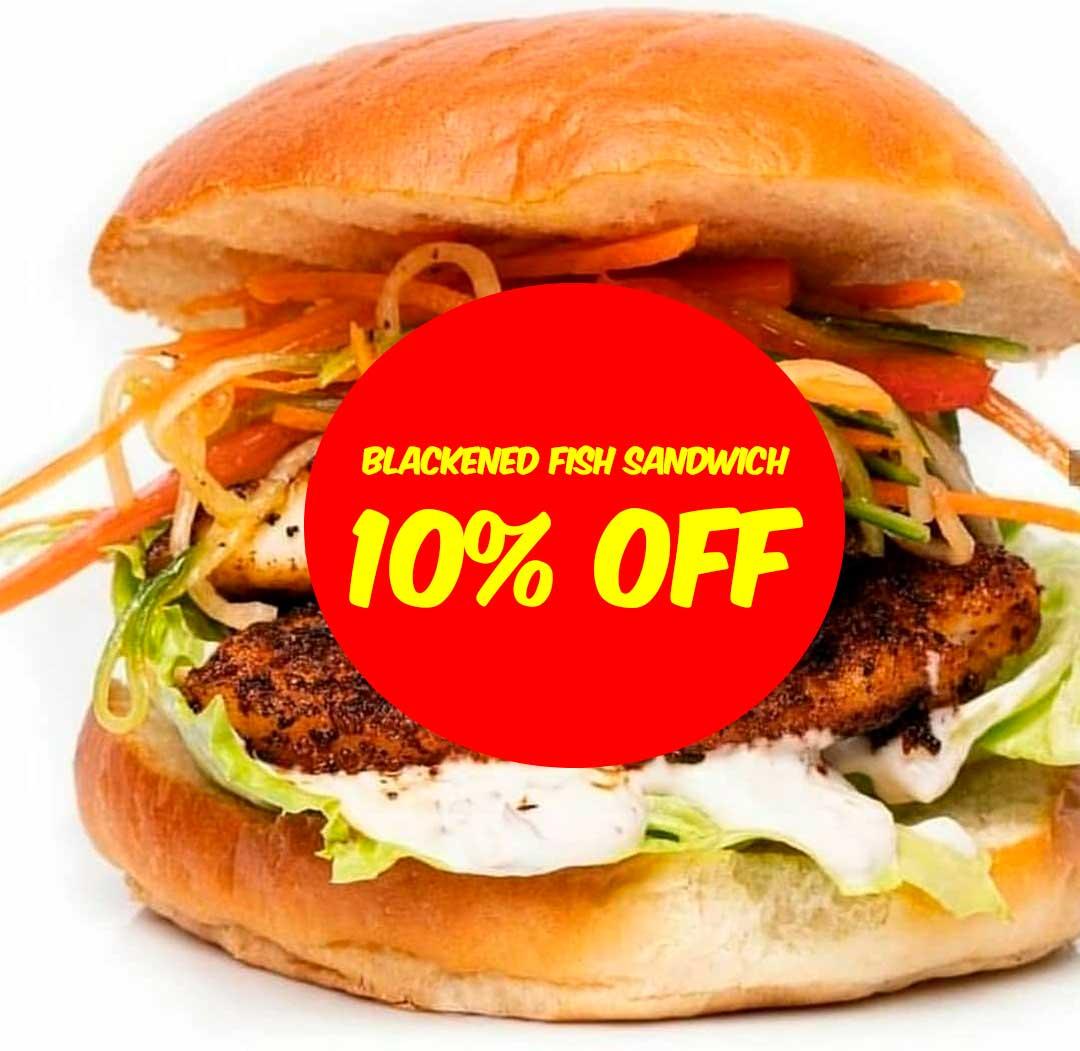 Good Mood Food sandwich 10% offer