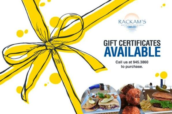 Rackam's Gift Certificate