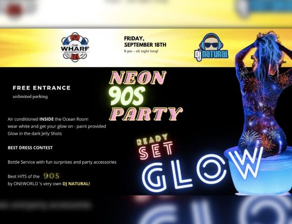 90s GLOW PARTY - INSIDE at The Wharf