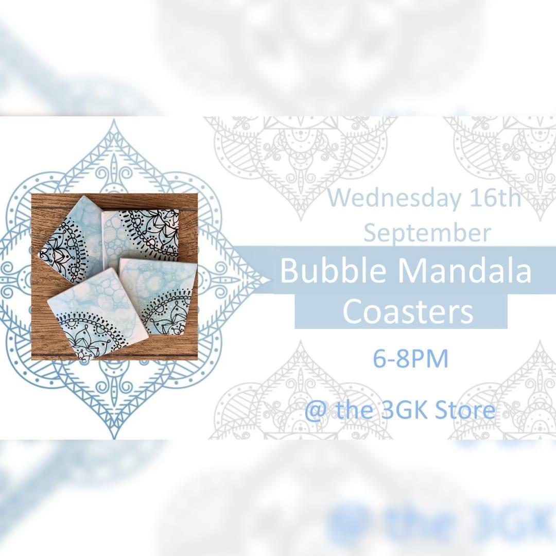 Bubble Mandala Coasters