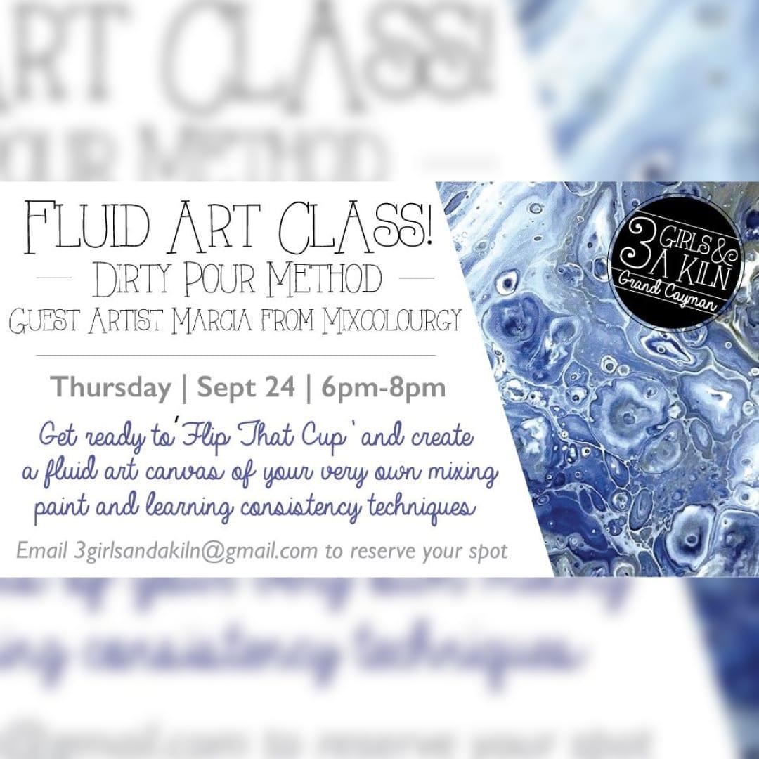 Fluid Art 'Dirty Pour' Canvas Class