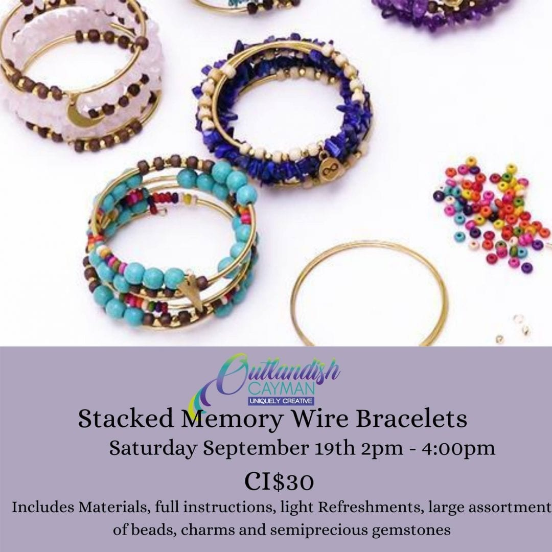 Jewelry Making Workshop - Stacked Memory Wire Bracelets