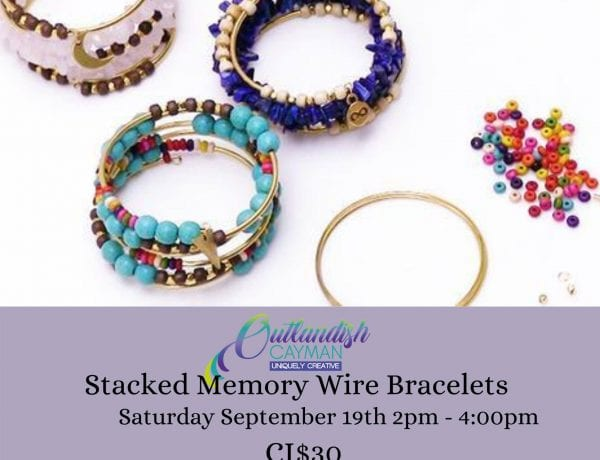 Jewelry Making Workshop - Stacked Memory Wire Bracelets