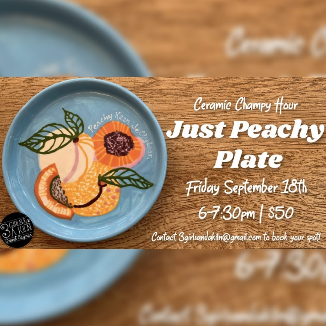 'Just Peachy' Plate Champy Hour