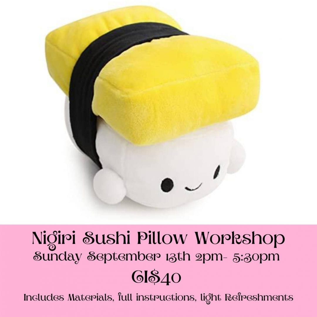 Sewing Workshop - Nigiri Sushi Plushie