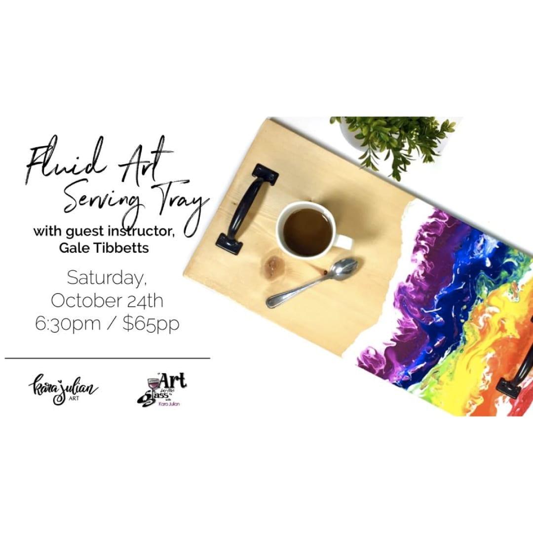Fluid Art Serving Tray w/ Gale Tibbetts - a DIY workshop