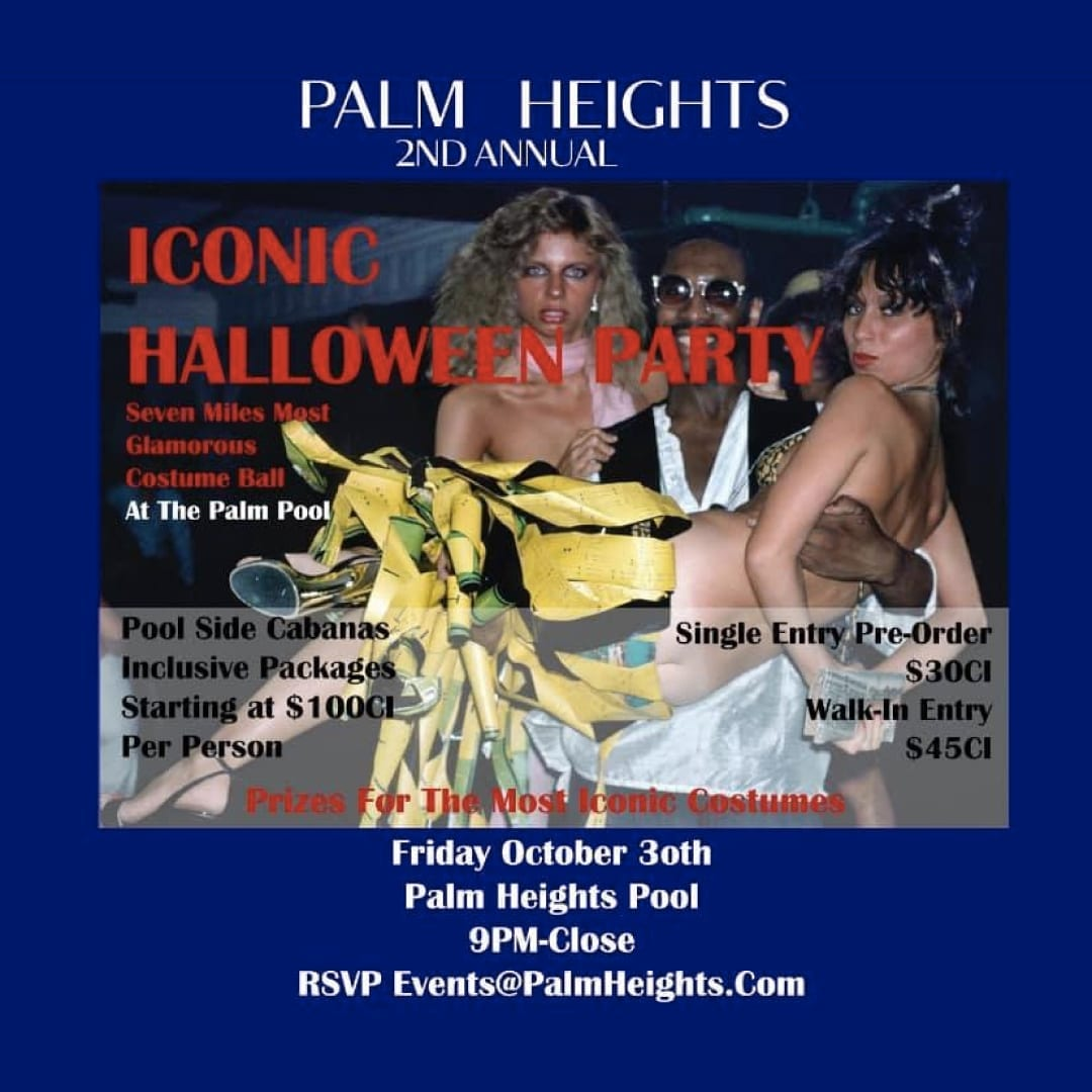 The Annual Palm Heights ICONIC HALLOWEEN COSTUME PARTY