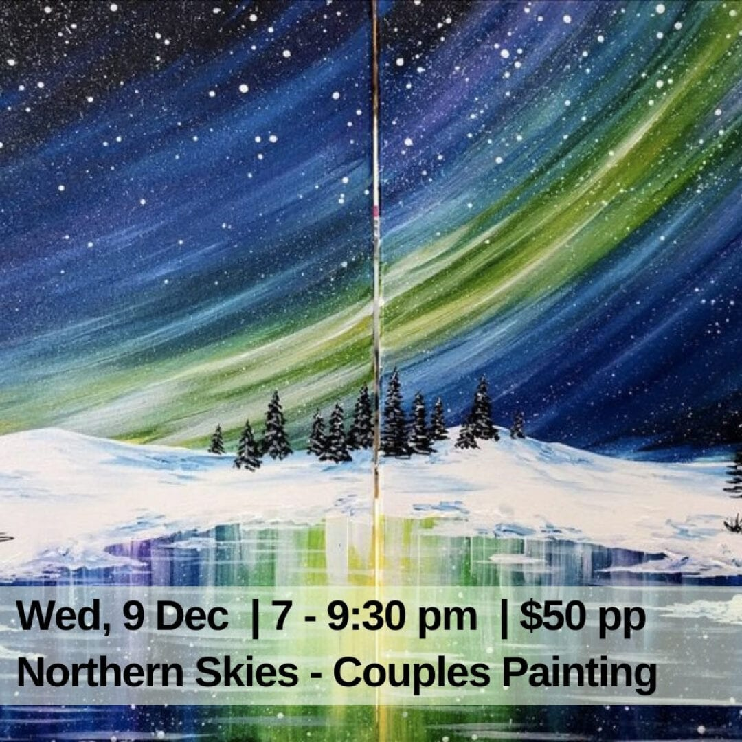 Northern Skies - Couples Painting