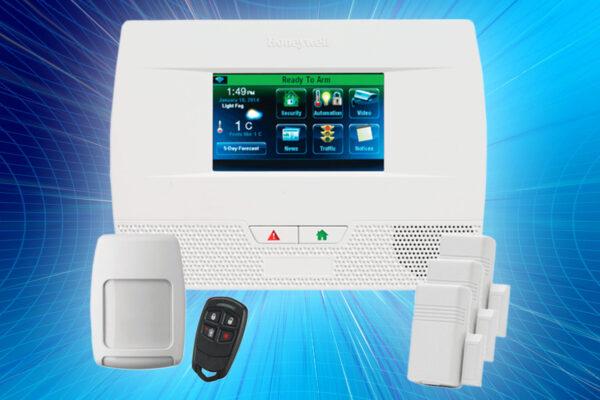 Home security system + 1-year monitoring service + Mobile access