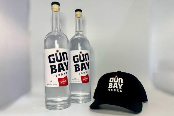 2 bottles of Gun Bay Vodka & FREE hat