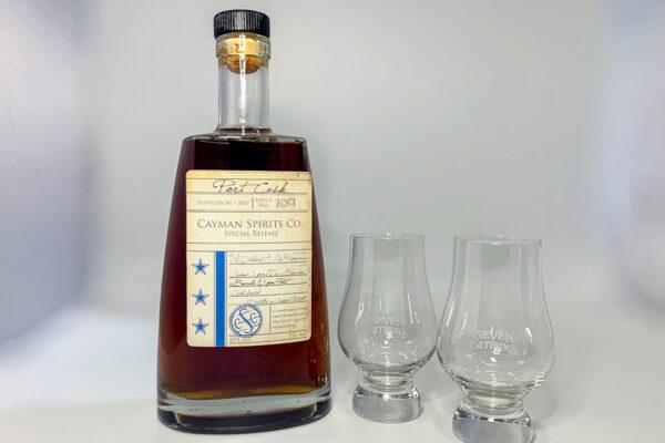 Rum Boss Kit: 1 bottle Port Cask Rum + 2 Glencairn tasting glasses